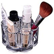 Mchoice Beauty Plum Flower Clear Acrylic Shaped Cosmetic Lipstick Brush Holder Makeup Case