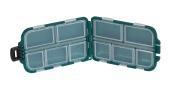 Green Box 10 Compartments Small Size Fishing Hooks Swivels Beads
