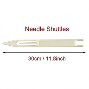 Shaddock Fishing ® 2 Packs 30cm/11.8inch White Fishing Line Repair Netting Needle Shuttles
