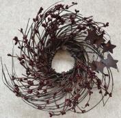 Pip & Star Wreath Burgundy 18cm