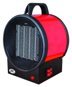 Prem-I-Air Utility PTC Electrical Fan Heater with 2 Heat Settings, 2 kW