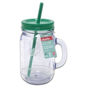 Aladdin Classic Insulated Mason Tumbler 950ml, Clear/Green