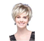 Tonake . New Blonde Short Straight Hair Wig Heat Resistant for Women Lady
