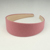 """Annielov 40mm (1 1/2"""") Plastic headband covered with cotton linen fabric Wide Headbands Hair accessories headband Alice band #2289 Pink"""