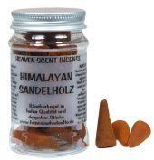 American Quality Himalayan Heaven Scent Sandalwood Incense Cones In A PERSPEX BOX Memory