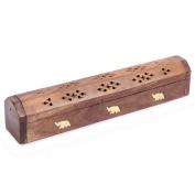 Rusticity Wood Incense Box | Handmade |