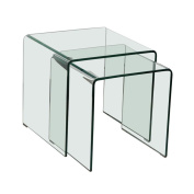 2pcs glass table living room dining kitchen glass table side table BHP Alana B154076