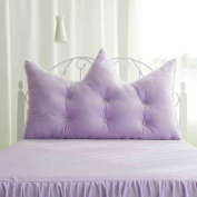 uus Purple Double Side Use Bedhead Cushion Of Pure Colour Creative Crown Shape Bed Pillow/ Sofa Cushion 120cm/150cm/180cm