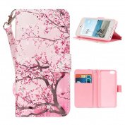 iPhone 5s Case, iPhone SE Wallet Case, Moon mood® 3D Bling Rhinestones Butterfly Flower Animal Pattern PU Leather Flip Wallet Stand Phone Case Cover for iPhone 5/5S/5G/SE