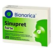 SINUPRET Forte BIONORICA- Sinus congestation - 20 Tablets