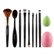 Makeup Brush Set, SAYOU® 10 PCS Cosmetic Brushes Set Included Professional MakeUp Cosmetic Set Eyeshadow Foundation Brush Blusher Tools Kit, Makeup Brushes Toothbrush And Beauty Sponge Blender