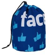 Travel Round DrawString Cosmetic Toiletry Bag Facebag [034]