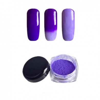 IGEMY Thermochromic Pigment Colour Change Nail Powder Dust Tempature Gradient Nail Decoration (Purple)