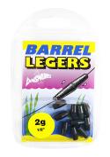 Dinsmores Non-Toxic Barrel Leger Sinker - Black, 2 g