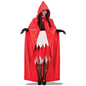 Carnival Toys 29009 Cape with Hood Satin 140 cm Red