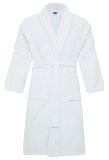 MEN & WOMEN 100% COTTON TERRY TOWELLING SHAWL COLLAR BATHROBE DRESSING GOWN L / XL