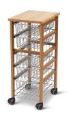 Arredamenti Italia AR_IT- 594 OLIVER kitchen trolley finishing cherry wood.