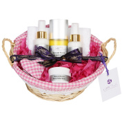 Mothers Day and Mothers birthday gift or as a pamper skincare gift set with relaxing body oil nourishing hand and foot cream and stress relief balm the perfect pamper gift set for mums