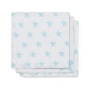 Jollein Little Star 537 848 65027 Muslin Face Cloth - 3 Pack BLUE/JADE