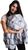 Nursing Cover - Baby Breastfeeding Cover & Hooter Hider -  .   Storage Pouch - Best Wide Privacy Covers for Moms - Perfect Baby Shower Gift for Girls and Boys