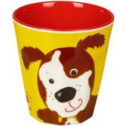 "Cup Melamin yellow ""Freche Rasselbande"" dog"