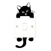 Saingace® New Cat Wall Stickers Light Switch Decor Decals Art Mural Baby Nursery Room