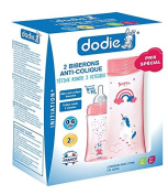 Dodie Initiation + Pack of 2 Feeding Bottles and 2 Teats 270ml