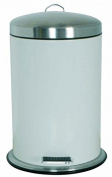 MSV Stainless Steel Pedal Bin with Lid, Silver, 5 Litre