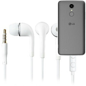 In Ear Headphones for LG Electronics K8 (2017), with microphone + volume control, white | 3.5mm earplugs omnidirectional microphone, headphone Studs stereo headset universal application headphone volu