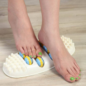 FOOT AND HEEL PAIN RELIEF Massager for Treatment with Acupressure and exercise of feet - Acupoint Roller Massage - Can help relieve pain from Plantar Fasciitis and Fallen Arches by TechAffect ®
