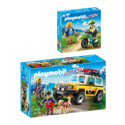 PLAYMOBIL® Action 2er Set 9128 9129 Mountain Rescue Emergency Vehicle + Mountain sportsmen
