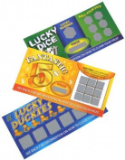 6 Fake Joke Lotto Tickets - Lottery Tickets Prank Joke Childrens Toy Stocking and Party Bag filler Gift by Guilty Gadgets