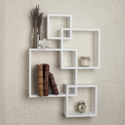 Danya B. BR1023WH Intersecting Cube Shelves - White