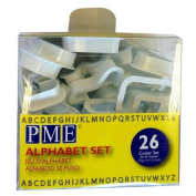 PME Alphabet Cutters for Sugarcraft and Cake Decorating, Set of 26