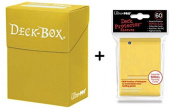 Ultra Pro Deck Box + 60 Small Size Protector Sleeves - Yellow