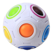 MZStech Magic Rainbow Ball Magic Cube Puzzle Cube Speed 11 Rainbow Colours to Solve