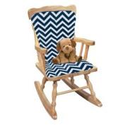 Minky Chevron Rocking Chair Cushion, colour