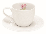 DEKORIA Cup with Saucer Sweet Rose 300 ml