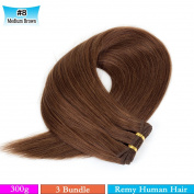 Veravicky Hair Brazilian Virgin Remy Human Hair Extension Straight 3 Bundles 300g - Colour 8