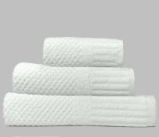 linenHall Spa, Quick Dry 450gsm, Waffle Extra Long Bath Sheet In White