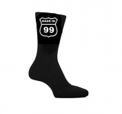 Made in 1999 18th Birthday Socks American Highway Sign Style. Great Gift Present