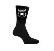 Made in 1996 21st Birthday Socks American Highway Sign Style. Great Gift Present