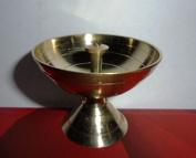 Artcollectibles India 5 Brass Diya Deepak Akhand Jyot Kuber Hindu Temple Havan Puja Religious Oil Lamp
