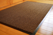 BROWN HEAVY DUTY NON SLIP RUBBER BARRIER RUG SMALL MEDIUM EXTRA LARGE DOORMAT LONG NARROW HALL RUNNER **6 SIZES** (90 X 150 CMS) by RUGS4HOME