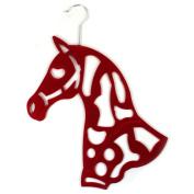 Scarf Holder Tie Organsiser Hanger Red Horse