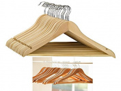 FiNeWaY@SET OF 100 HIGH QUALITY WOODEN COAT HANGERS WOOD COATHANGERS SUIT TROUSER BAR by FiNeWaY