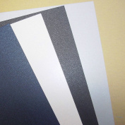 10 x A4 Black Double Sided Pearl, Pearlescent, Pearlised Card Stock, 240gsm - Stella Crafts