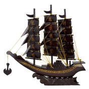 CLHK Chinese carving art mahogany sailboat rosewood smooth sailing opening gift fengshui Decoration Craftwork Artwork Statue , 50*12*50