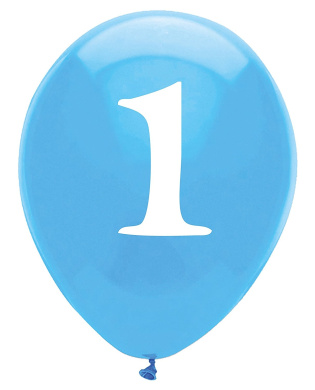 SWEET AT ONE BLUE - LATEX BALLOONS