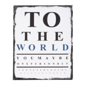 Carson Home Accents 13578 To The World Eye Chart Canvas Wall Art, 50cm by 40cm by 2.5cm